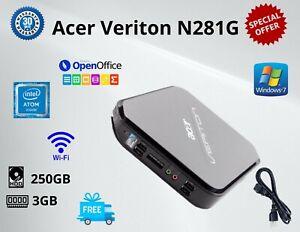 Cheap Acer Veriton N281G Intel Atom RAM:3GB, HDD:250GB, Windows 7 WIFI
