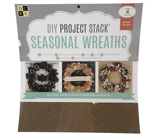 DCWV DIY Project Double Sided CARDSTOCK PAD with Templates Make Seasonal Wreaths