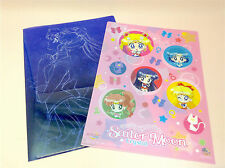 "SUPER RARE  SAILOR MOON Clear File 2pcs ""Mini Stop""limited S/FREE"