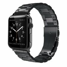 Stainless Band Bracelet Strap for Apple Watch 38mm Series 1 Series 2 Black