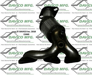 Catalytic Converter-Exact-Fit - Manifold Front Right Davico Exc CA 15660