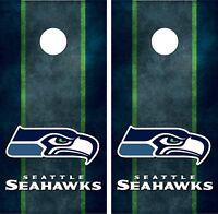 Seattle Seahawks Cornhole Board Decal Wrap Wraps