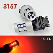 Parking Turn Signal Light CK 3157 4157 3457 Red LED Bulb OSRAM 15 SMD B1 12