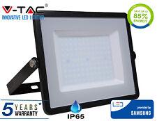 LED Floodlight 100W SMD IP65 w/ Samsung LED  Cool White 6400K Black