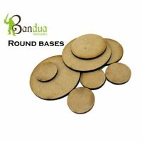 Round Bases for warhammer 40k, wargames, table top games .MDF wood
