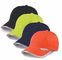 Orange Noir Jaune Bleu Haute Visibilité Réfléchissant Baseball Casquette Chapeau