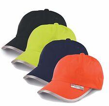 ORANGE BLACK YELLOW BLUE High Viz high Visability Reflective Base Ball Hat Cap