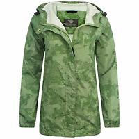 LADIES S-XXL WATERPROOF BREATHABLE WINDPROOF JACKET camouflage hiking coat camo