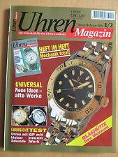 Uhren-Magazin Nr. 1/2 1996 - plus Extra-Heft - Zeitschrift, Uhrenheft, Magazin