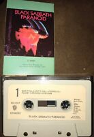 BLACK SABBATH: PARANOID W/ PAPER LABEL REA MUSIC SERVICE EDITION CASSETTE TAPE