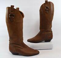 Dexter Vintage 80s Brown Leather Womens Cowboy/Western Boots Size 7.5M