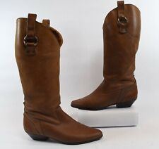Dexter Vintage 80s Brown Leather Womens Cowboy/Western Boots Size 7.5M