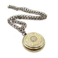 Vintage Designer Anne Klein Big Lion Head Gold Tone Pendant Necklace