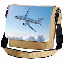 Airplane In The Clouds Messenger Cross-Body Shoulder Flap Bag