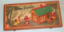 Kit de construcción francesa c1950s-JeuJura Maison Forestiere/Casa en Bosque.
