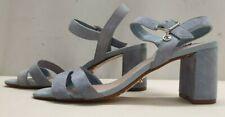 ladies womens DUNE MEGGAN blue suede sandals shoes size 5 EU 38