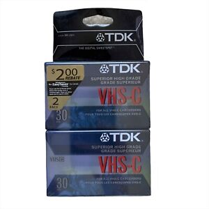 TDK Superior High Grade VHS-C 30 Minutes 2 Pack Video Cassette Camcorders