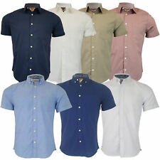 Mens Linen Cotton Shirt Tokyo Laundry Wells Short Sleeved Grosvenor Summer New