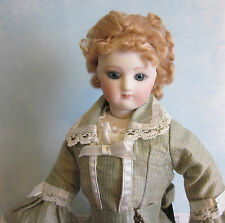 "Blonde or Brown 8"" French Fashion doll mohair wig Size 4 1/4"