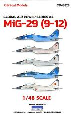 Caracal Decals 1/48 MIKOYAN MiG-29 Fighter in International Service
