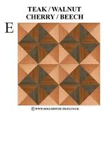 DOLLS HOUSE MINIATURES,WOODBLOCK FLOORING.WOOD FLOOR TILES.WB 3 (E) 1/12TH SCALE