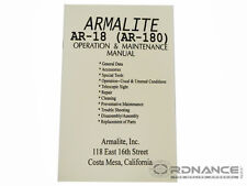 Armalite AR-18 (AR-180) Operation and Maintenance Manual (Reprint)