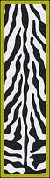 "2x8 Milliken Zebra Glam Citrus Animal Print Area Rug - Approx 2'1""x7'8"""