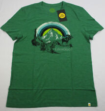 4094c01e Life Is Good Cool Stripe Sunset Moose Tee T-shirt Emerald Green Mens Small S