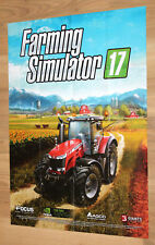 Farming Simulator 17 Rare Double Sided Poster / Map 60x42cm Xbox One PS4