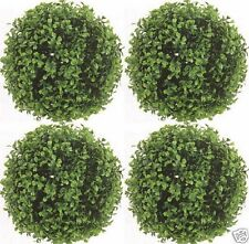 4 ARTIFICIAL BOXWOOD BALLS UV OUTDOOR TOPIARY PLANT BUSH FLOWER FLORAL TREE 10""