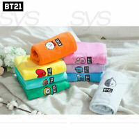 BTS BT21 Official Authentic Goods Bath Cotton Towel Facial BT21 Ver 40 x 80cm