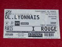 [COLLECTION SPORT FOOTBALL] TICKET PSG / OL LYONNAIS 28 MARS 1998 Champ.France
