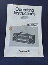 PANASONIC RX-CT800 Manuale di istruzioni