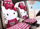 1 Sets New Hello Kitty Cute Ms Universal Car Seat Covers Cushion Plush Burgundy