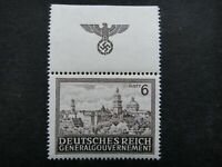 Germany Nazi 1943 1944 Stamp MNH View of Lwow Swastika Eagle Generalgouvernement