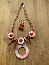 Shell Necklace & Ear Rings Set
