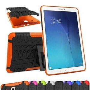 Samsung Galaxy Tab S2 9.7 Tablet Case Hard Stand ORANGE Heavy Duty Tire Pattern