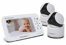 """New listing 5"""" Hd Baby Monitor, Video Baby Monitor with Camera and Audio, White 2 Cameras"""