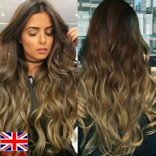UK Fashion Ladies Synthetic Hair Wig Long Wavy Full Wigs Curly Wig For Women
