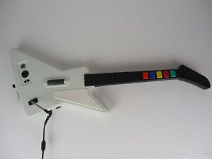 Guitar Hero Xbox 360 Gibson Xplorer Wired Controller Redoctane White  WITH STRAP