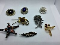 Job lot of 8 Vintage brooches N 4-mix