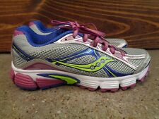 Saucony 6.5 Gray Purple Womens Athletic Shoes Running Training Walking Ignition