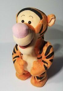 """Vintage Disney Talking Bouncing Tigger 90s Toy Jumping Plush Mattel 1998 12"""" Toy"""