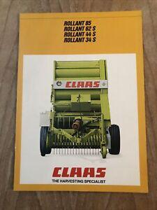 Claas Rollant Round Baler 85 62S 44S 34S Sales Literature Brochure Collectors