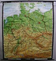 Schulwandkarte Wandkarte Schulkarte Deutschland BRD DDR Bundesrepublik 189x216cm