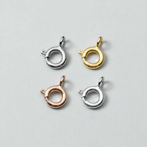 925 Sterling Silver DIY Findings Spring Clasp Ring For Necklace Bracelet A2071
