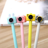 2pcs Cute Camera Design Gel Pens Black Ink Signature Pens Kawaii Kids Pen