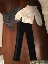 NWT BCBG Lot Of 3. 2 Off Shoulder Tops And Leggings W/ Leather Detail Xs/s.