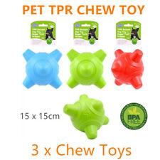 3x Tough Pet Orbital Chew Toys 15x15cm Dog Puppy Training Rubber Bite Ball Teeth