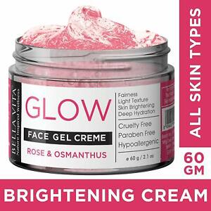 Bella Vita Organic Face Gel Night Cream For Women & Men All Skin-With Rose & Osm